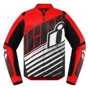 Icon Overlord SB2 Perforated Textile Jacket Red